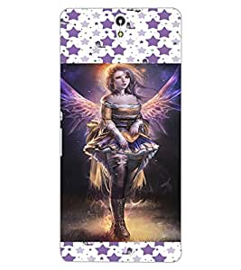 ColourCraft Lovely Angel Design Back Case Cover for SONY XPERIA C5 E5553 / E5506