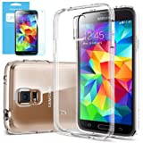 [STRONG-FLEX] Spigen Samsung Galaxy S5 Case Clear **NEW Release** [Ultra Fit] [Capsule Clear] Premium Clear TPU Case Soft for Galaxy SV Galaxy S V - ECO-Friendly Packaging - Capsule Clear (SGP10734)