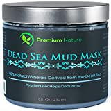Dead Sea Mud Mask for Face and Body - 8 oz Melts Cellulite Treats Acne Strech Mark Removal - Deep Detox Cleaning Mask Pore Minimizer and Wrinkle Reducer - Natural Limited Edition Premium Nature