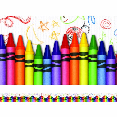 Edupress Ep-3269 Crayons Layered Border back-969666