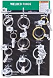 "Campbell DD0720174 31 Piece 15"" x 9.5"" Welded Ring Display Assortment"