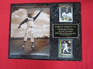 Roberto Clemente Pittsburgh Pirates 2 Card Collector Plaque w 8x10 GREATEST PHOTO... by J & C Baseball Clubhouse