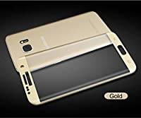 Samsung Galaxy S7 screen protector , WYAO® 3D Curved Full Coverage ,Only 0.3mm 9H Tempered Glass ,High Definition,for Samsung Galaxy S7 (Gold) by A+++ E-DIGITAL SHOP
