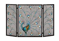 Deco 79 Metal Fireplace Screen 48 by 32-...