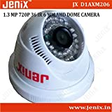 Jenix CCTV Camera 960P 1.3MP AHD 6mm,AHD HD Surveillance Security CCTV Dome Camera Indoor Type IR Cut Night Vision For AHD DVR Model JX-D1AXM206