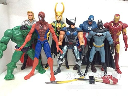 The Avengers 8pc set figure toy doll collection gift super heroes