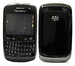 Blackberry Curve 9360 Full Housing Body Panel Faceplate Black FREE SIM ADAPTER