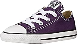 Converse Baby Girl\'s Chuck Taylor All Star Ox (Infant/Toddler) - Eggplant Peel - 2 Infant