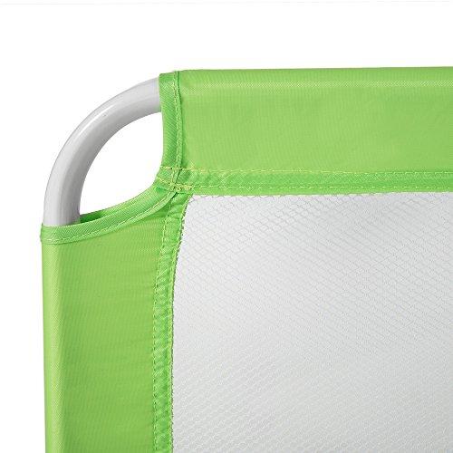 Tectake barriera per letto da bambini sponda ribaltabile pieghevole universale 102cm verde - Barriere letto per bambini ...