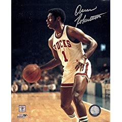 Autographed Hand Signed Oscar Robertson - Milwaukee Bucks 8x10 Photo by Hall of Fame Memorabilia