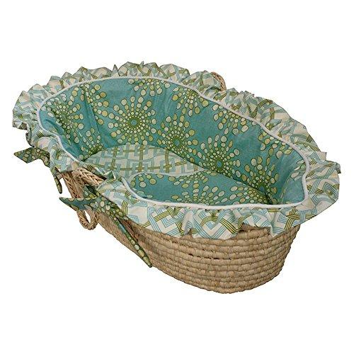 Hoohobbers Moses Basket - Burst Seagrass массажер medisana инфракрасный itm