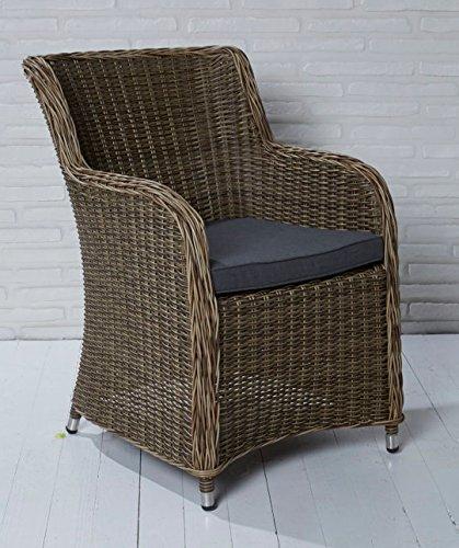 6x Hochwertiger Polyrattan Gartenstuhl Cappuccino Sessel Rattan Stuhl Gartenstühle Gartenmöbel günstig bestellen