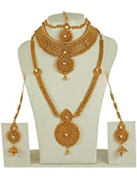 MUCH MORE Beautiful Gold Plated Polki Bridal Necklace For Womens & Girls Jewelry