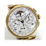 TAG HEUER(タグホイヤー)125th記念モデル エドワードホイヤー クロノグラフ ムーンフェイズ 腕時計 手巻き GP×革ベルト [中古]