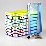 Wholesale 8pcs/lot 8 Colors Back Soft Cover Case Skin for Iphone5 5S 5G