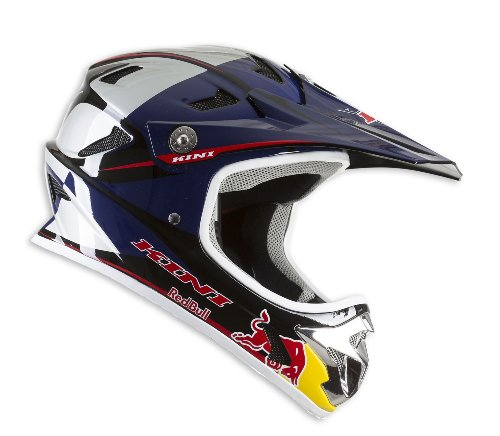 Kini Red Bull Downhill-Helm MTB Silver/Blue M