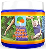 Kid-Safe Zinc Oxide Powder. Lead Free. 100% pure, non-nano, non-nicronized, uncoated, cosmetic grade powder. Largest particle size makes it perfect for kids and adults. Great for sunscreens, acne creams, diaper creams, and more. Satisfaction guarantee