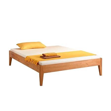 Bett fur Dachschräge Buchenholz massiv Breite 106 cm Liegefläche 100x200 Stutz-Steg Ohne Pharao24