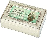 Cottage Garden Special People Silver Petite Rose Music Jewelry Box Plays Eye on the Sparrow