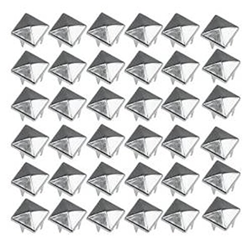 Smallwise Trading 50 Pyramid Square Nailhead Studs Spike Tacks --- Great for DIY Crafts