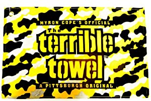"NFL Steelers Camo Terrible Towel 25"" x 15"" Golf Towel 100% Cotton Gift at SteelerMania"