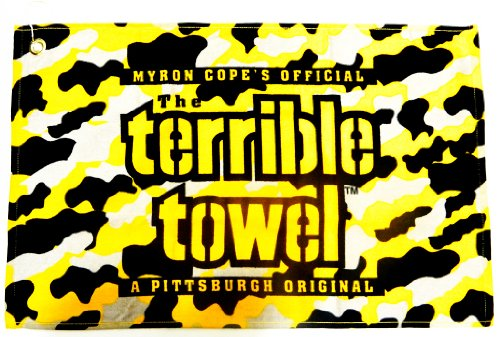 "NFL Steelers Camo Terrible Towel 25"" x 15"" Golf Towel 100% Cotton Gift at SteelerMania"