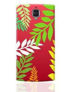 PosterGuy OnePlus 3 Case Cover - Leaves Pattern | Designed by: Yash Banka