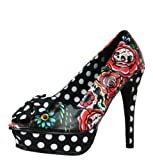 Iron Fist Hooters Peep Toe Platform Womens Shoes AW12 Black
