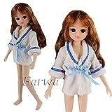 「Barwawa」リカちゃん 服 ナイトウェア バスローブ 手作り ネグリジェ リカちゃんの ルームウェア 寝巻き カジュアル風 リカちゃん用 部屋着