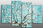 Large Duck Egg Blue Blossoming Tree C...
