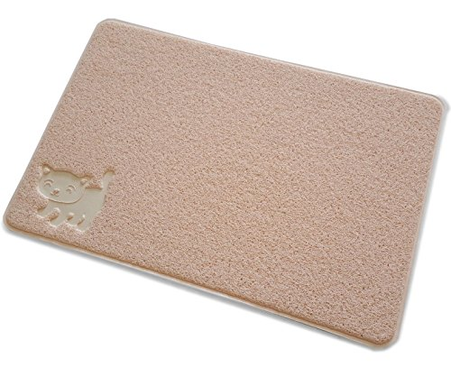 Smiling Paws Extra Large Cat Litter Mat with 9TM Scatter Control, Ruby Beige (Litter Pan Mat compare prices)
