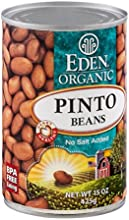 Eden Organic Pinto Beans No Salt Added 15-Ounce Cans Pack of 12  Value Bulk Multi-pack