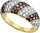 10KT Yellow Gold 1.00 Carat (ctw) Fashion Ladies Brown Diamond Ring