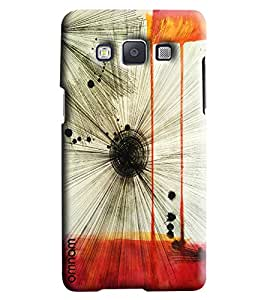Omnam Feather Stripes Art Printed Designer Back Cover Case For Samsung Galaxy A5