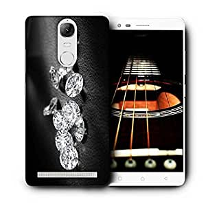 Snoogg Diamonds 11739 Printed Protective Phone Back Case Cover For Lenovo K5 Note