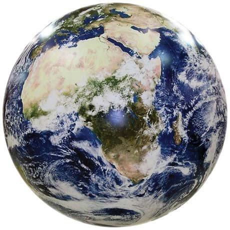衛星写真を元に作られたリアルな地球風船 40? (16インチ) 蓄光塗料付き 教材にも使えます EarthBall [並行輸入品]