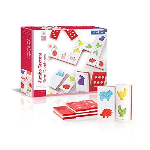 Guidecraft Jumbo Texture Dominoes Set - 1
