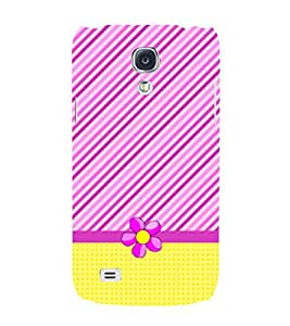Yellow Cross Lines Girl 3D Hard Polycarbonate Designer Back Case Cover for Samsung Galaxy S4
