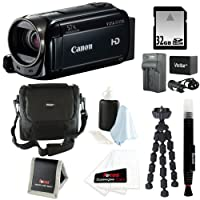 Canon VIXIA HF R500 Digital Camcorder (Black) + 32GB Accessory Kit by Canon
