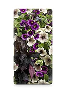 Amez designer printed 3d premium high quality back case cover for Sony Xperia M5 (Colorful Flowers)