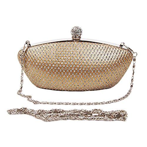 Quyi Versatile Wallet Tote Handbag Shoulder Bag Gold front-303316