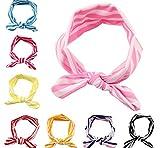 Mookiraer® Children Girl Elastic Hair Hoops Headbands Baby Turban Good Gift (Q08--8pcs)
