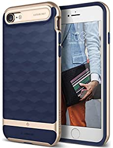 iPhone 7 Case, Caseology [Parallax Series] Modern Slim Geometric Design [Navy Blue] [Textured Grip] for Apple iPhone 7 (2016)