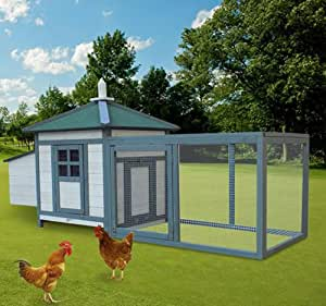 Ghp portable wooden deluxe backyard chicken for Portable hen house