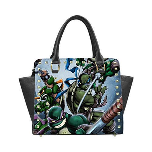 DUST -PROO Slim& lightweight&Easy to carry Teenage Mutant Ninja Turtles Custom Rivet Shoulder Handbag (Model 1645) (Ninja Custom compare prices)