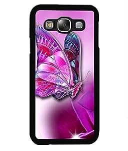 Crazymonk Premium Digital Printed Back Cover For Samsung Galaxy E5