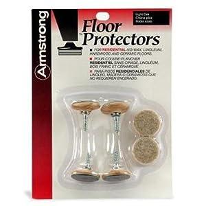 Armstrong Floor Protectors Light Oak S-120 4 pack