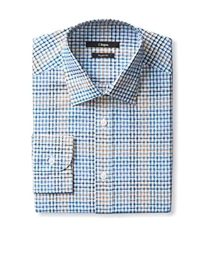 Z Zegna Men's Checked Sportshirt
