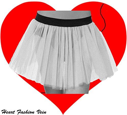 Neon White Plus Size Tutu Skirt
