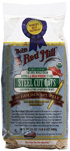 Organic Whole Grain Steel Cut Oats, 24 oz (680 g) by Bob's Red Mill